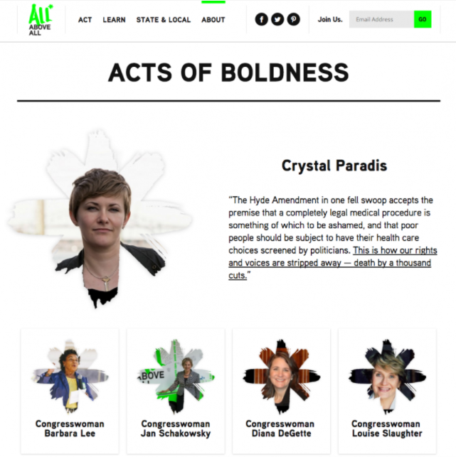All Above All's Acts of Boldness campaign