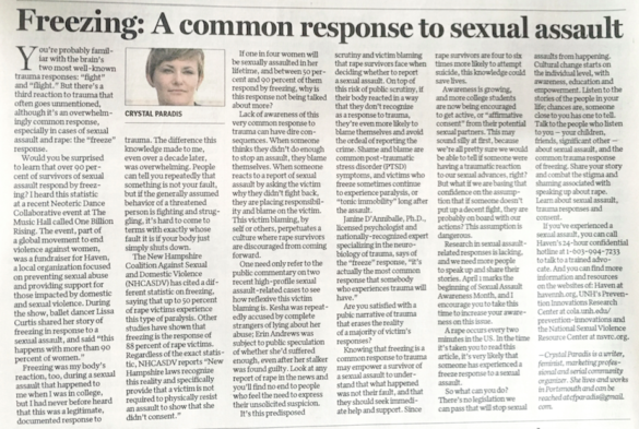 Freezing: A Common Response to Sexual Assault