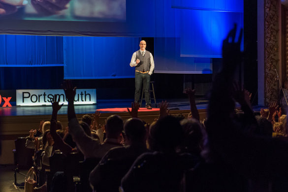TEDxPortsmouth 2018 speaker Jon Giegengack; Photo by Kate & Keith Photography
